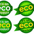 Eco Product Seals — Stock Vector