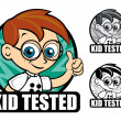 Kid Tested Seal — Stock Vector