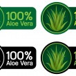 100% Aloe Vera Seals, Stickers — Stock Vector #13704662