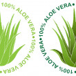 Aloe Vera Seal — Stock Vector