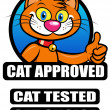 Cat Approved / Tested / Choice Seal — Stock Vector