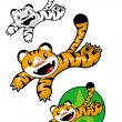 Jumping Tiger Character — Stock Vector