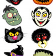 Stock Vector: Halloween Characters