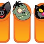 Halloween Characters in Vertical Banners — Stock Vector