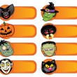 Halloween Character Labels Collection — Stock Vector #13704766