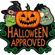 Halloween Approved Character Seal — Stock Vector #13704767