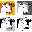Beef Head Illustration — Stock Vector