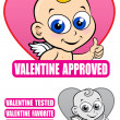 Valentine Approved Seal - Image vectorielle