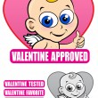 Valentine Approved Seal - Stockvectorbeeld