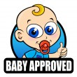 Baby Approved Seal — Stock Vector #13704905