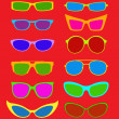 Sunglasses Collection in Summer Colors — Stock Vector #13704909