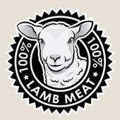 Lamb Meat 100% — Stock Vector