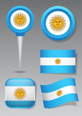 Argentina / Symbols, icons and flags — Stock Vector