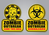 Zombie Outbreak Signs — Stock Vector