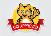 Cat Approved Seal — Stock Vector