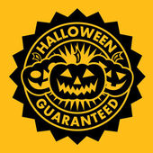 Halloween Guaranteed Seal — Stock Vector