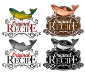 Original Recipe Seal Fish version — Stock Vector