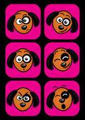 Dog facial expressions — Stock Vector