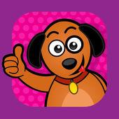 Pies zatwierdzające ilustracja. — Wektor stockowy