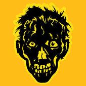 Zombie Face — Stock Vector
