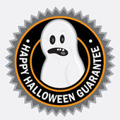 Happy Halloween Guarantee Seal — Stock Vector