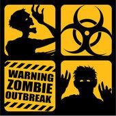 Zombie Outbreak Icons — Stock Vector