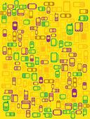Cellphones and smartphones Background — Stock Vector