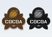 Cocoa 100% Seal / Sticker — Stock Vector