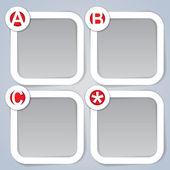 ABC, Square Progress Labels — Stock Vector
