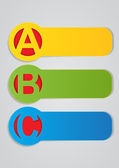 ABC Horizontal Labels — Stock Vector