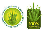 100% Aloe Vera Seals in vectors — Stock Vector