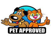 Pet Approved Seal — Stock Vector