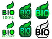 Bio Product and Bio 100% Icon / Seal — Stock Vector