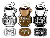 Original Recipe Seal — Stock Vector