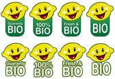 Těsnění bio citron v vektory — Stock vektor