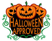 Halloween Approved Super Seal — Stock Vector
