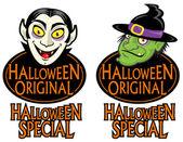 Sellos de carácter original de halloween — Vector de stock