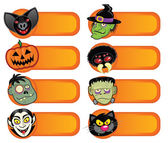 Halloween Character Labels Collection — Stock Vector