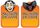 Halloween ekskluzywny charakter etykiety — Wektor stockowy