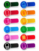 Smartphones Icons / Labels — Vettoriale Stock