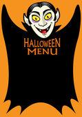 Halloween Dracula's Menu — Stock Vector