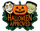 Halloween Approved Seal — Stock Vector