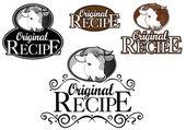 Original Recipe Seal in Cow / Beef — Stock Vector