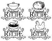 Original Recipe Seals Collection — Stock Vector