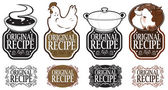 Original Recipe Vertical Seal Collection — Stock Vector