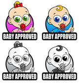 Baby Approved Seals — 图库矢量图片