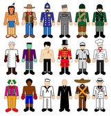 Classic Character Figures — Stock Vector