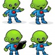 Alien Character — Stock Vector