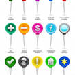 GPS map icons / needles — Stock Vector