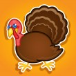 Thanksgiving Turkey Ilustration — Stock Vector